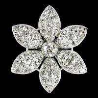 A Georgian Diamond Set Jasmine Flower Brooch