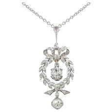 An Edwardian Diamond Drop Pendant