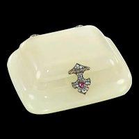 A Faberge Jewelled Bowenite Box