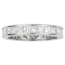 A Square-cut Diamond Set Full Eternity Ring