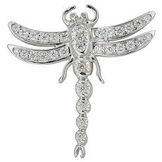 A Diamond Dragonfly Brooch By Tiffany & Co