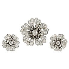 A Victorian Diamond Flower Demi-parure