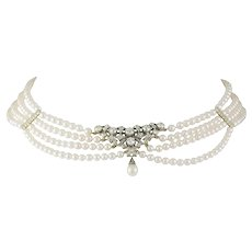 A Victorian Diamond and Pearl Necklace