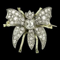 A Late Victorian Diamond Set Butterfly Brooch
