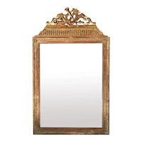 Louis XVI French Gold Leaf Wood Mirror 1750