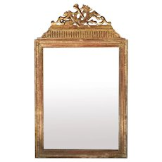 Louis XVI French Gold Leaf Wood Mirror 1750