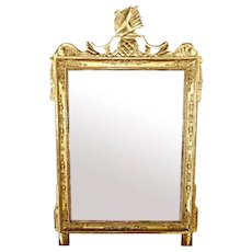 Napoleon I Empire French Gold Leaf Wood Mirror