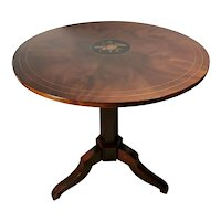 Italian Louis Philippe Style Coffee Table Walnut-Burr with Central Inlay 1850