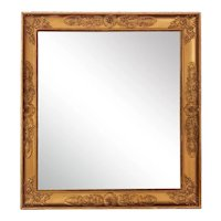 Napoleon III Late Empire French Mirror in Gold Leaf Wood 1855
