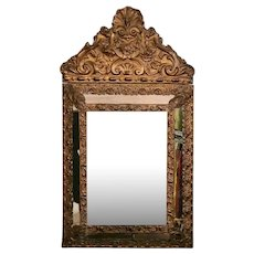 Napoleon III French Brass Wall Mirror 1852