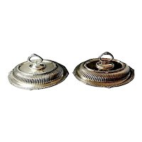 Pair of Victorian Entrée Dishes in Silver Plated J.H.Potter, 1884-1893