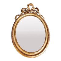 Gold Leaf Wood Mirror France Louis XVI Style 1835-1840