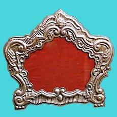 Venetian Style 18th Century Italian Silver Frame Production Bucintoro 1970