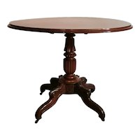 Louis Philippe Mahogany Sail Table Made in France, 1850