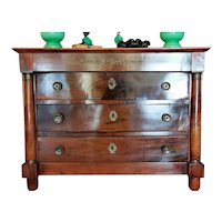 Restoration Empire French Chest of Drawers in Walnut 1820