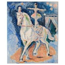 "Gérard  Hordyk (aka ""Gerardus Hordijk"" Netherlands 1899 - 1958 ) ""The ballet on horse"", (90x78x9cms) Original Oil in Canvas, ca. 1932"