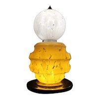 Large Murano glass table lamp by AV Mazzega - Italy 1970's (76x39cm) Gorgeous!