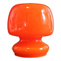 Murano glass / aluminum late 60's base table lamp by Gino Vistosi. 19x17x14cm - Mint condition
