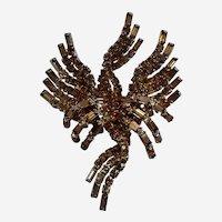 """Rare Vintage Hattie Carnegie Brooch Bronze/Gold 3"""""""