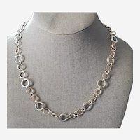 Tiffany & Co Italy Sterling and 18K Gold Necklace