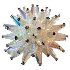 Vintage Vendome Brooch Crystal Spikes w Rhinestones Marked