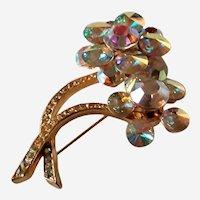 "Vintage Weiss Rhinestone Designer Brooch Signed Fabulous Sparkle! 2 3/4"""