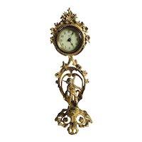 Fine Antique Victorian Ornate Gilded Clock