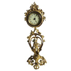 Fine Antique Victorian Ornate Gilded Clock