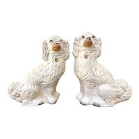 Pair of Antique Victorian Staffordshire Dogs
