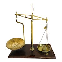 Pair of Antique Brass Scales