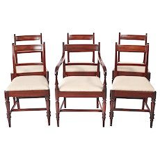 Fine Quality Set of 6 George III Antique Mahogany Dining Chairs