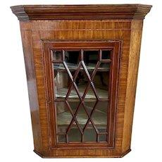 Antique 18th Century George III Mahogany Hanging Corner Cabinet
