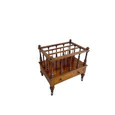 Quality Antique Victorian Figured Walnut Canterbury