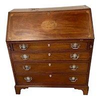 Quality Antique George III Mahogany Inlaid Bureau