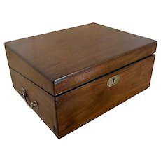 Antique George III Mahogany Writing Box