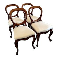Quality Set of Four Antique Victorian Mahogany Dining Chairs