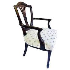 Antique Victorian Hepplewhite Style Mahogany Armchair