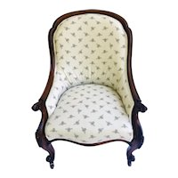 Fine Quality Antique Rosewood Victorian Armchair