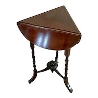 Quality Small Antique Victorian Mahogany Drop Leaf Lamp Table