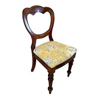 Antique Victorian Mahogany Side Chair