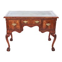 Antique Georgian Revival Walnut Writing Table