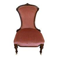 Quality Antique Victorian Walnut Ladies Chair
