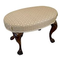 Antique Victorian Oval Shaped Stool