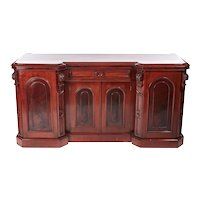 Quality antique carved Victorian mahogany sideboard