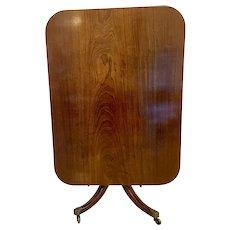 Quality Antique Regency Mahogany Tilt Top Centre Table