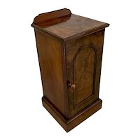 Quality Antique Victorian Burr Walnut Bedside Cabinet