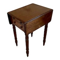 Small Antique Victorian Quality Mahogany Table with Two Drop Leaves