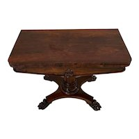 Quality Antique William IV Rosewood Card Table