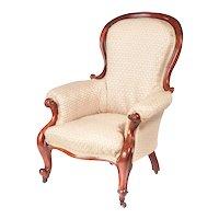 Quality Victorian Mahogany Armchair