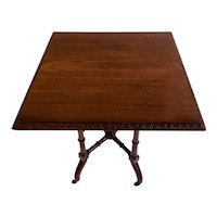 Quality Antique Mahogany Lamp/Side Table
